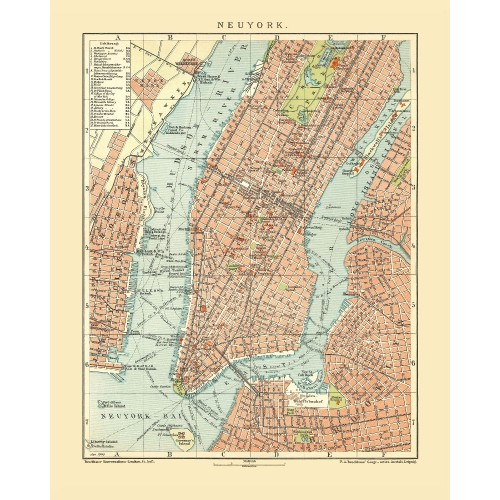 N.Y.C. - Antique Map
