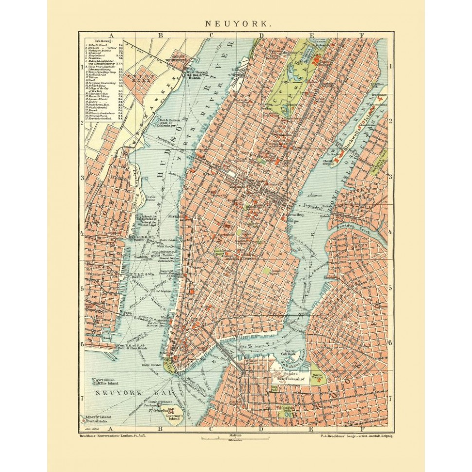 Map Of New York Poster.New York City Historical Map Poster Nyc Old City Prints On Canvas