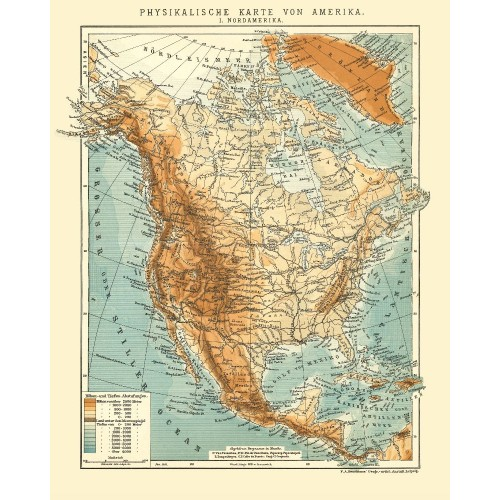 North America - Vintage Wall Map