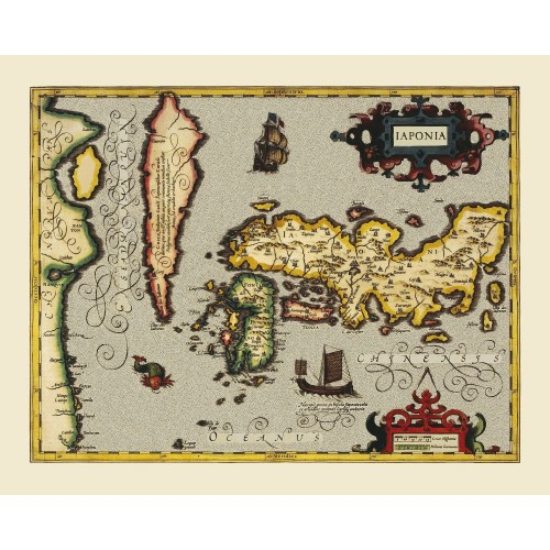 Antique Japan Map Printed on Canvas