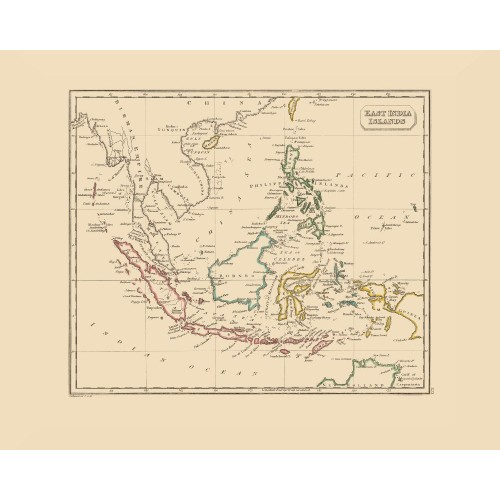 Indonesia, Malaysia and the Phillipines - Old Map