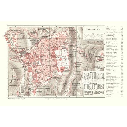 המפה של ירושלים