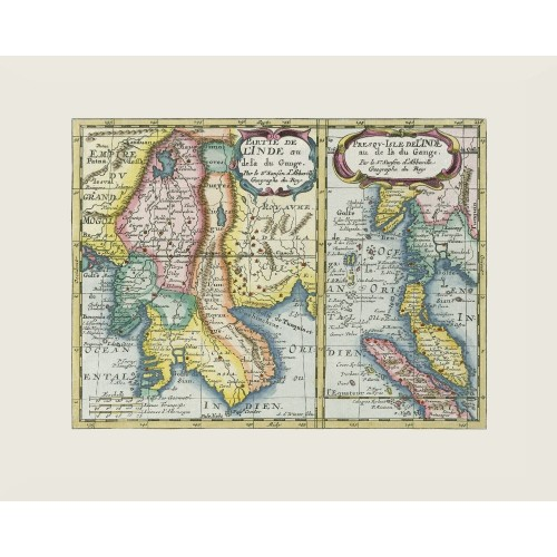 South East Asia - Antique Map Poster
