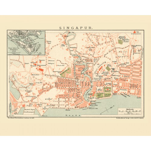 Singapore Old Map