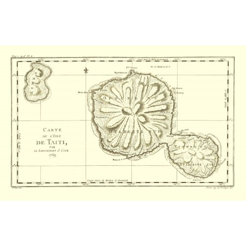 Carte vintage de Tahiti
