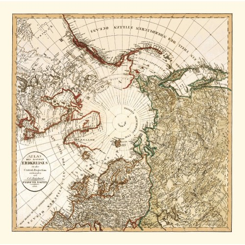Vintage Map of the Arctic