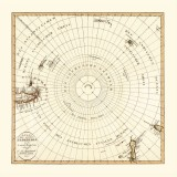 Antique map of the South Pole