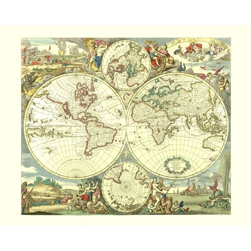 Vintage World Wall Map