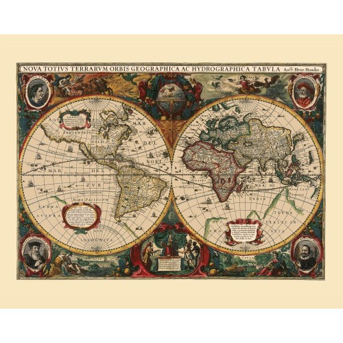 World: Vintage Map Art