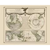 Antieke kaart van de wereld