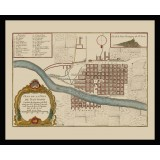 Santiago de Chile Framed Antique Map