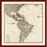 Antique America Map: Canvas Print