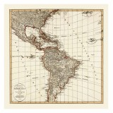 Old America Map: Canvas Print