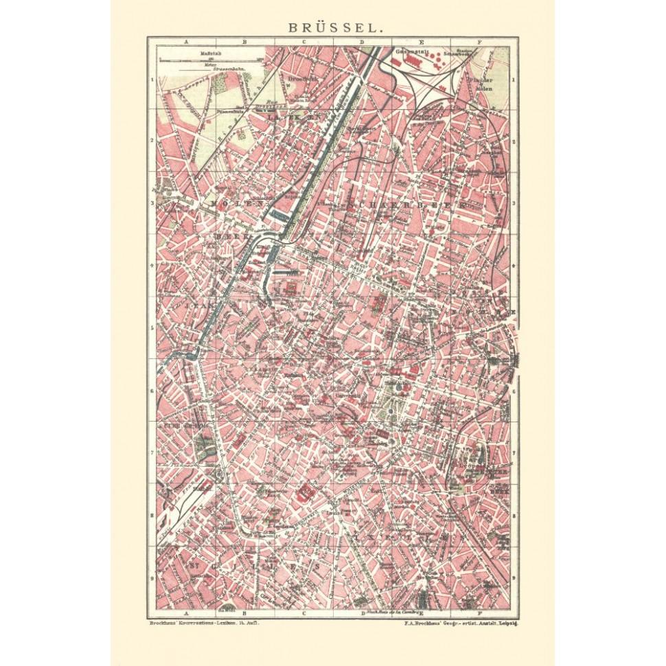 historischer stadsplan van brussel