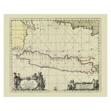 Antique Java Map Printed on Canvas