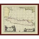 Framed Old Map of Java