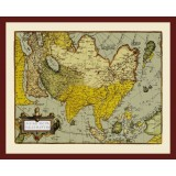 Ancient Asia Map Printed on Canvas