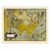 Old Asia Map Printed on Canvas