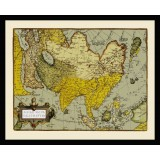 Antique Asia Map in Frame
