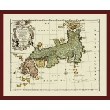 Japan Ancient Map Printed on Canvas