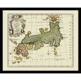 Japan Historical Map in Frame