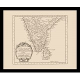 Framed Ancient Map of India