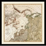 The Arctic Old Map Printed on Canvas