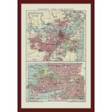 Antique Sydney Map Canvas Print