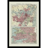 Ancient Sydney Map Canvas Print