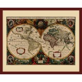 Ancient World Map in Frame