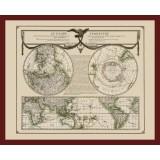 Beautiful World Map on Canvas